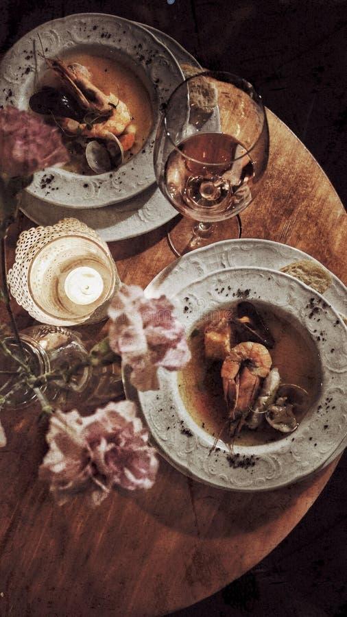 Jantar romântico fotos de stock