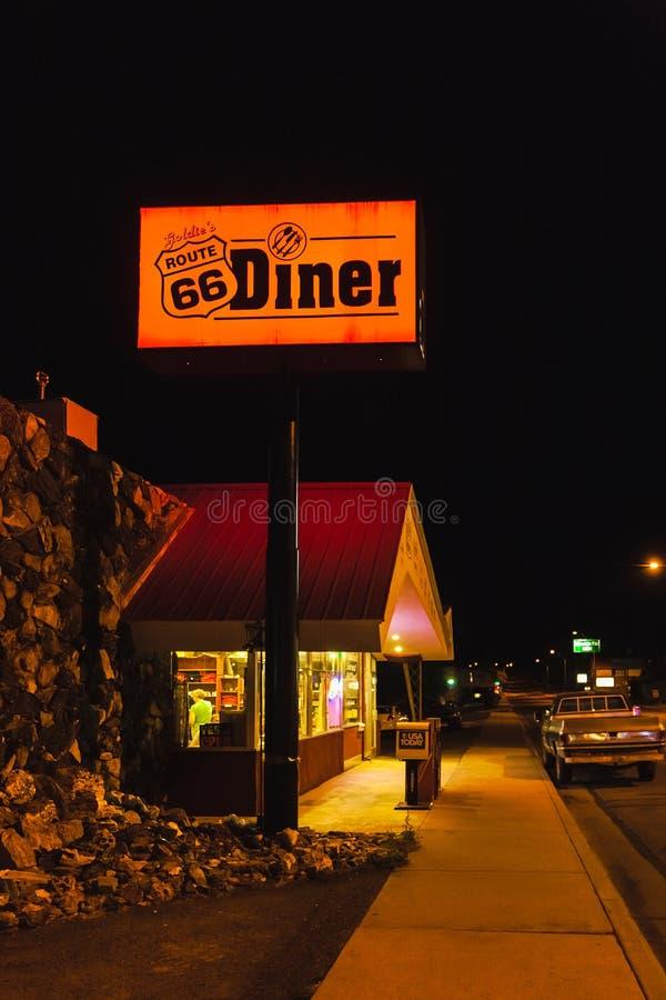 Jantar Route 66 do ` s de Goldie, Williams, o Arizona fotografia de stock