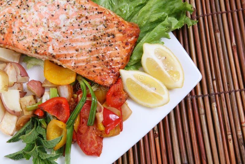 Jantar Salmon imagens de stock