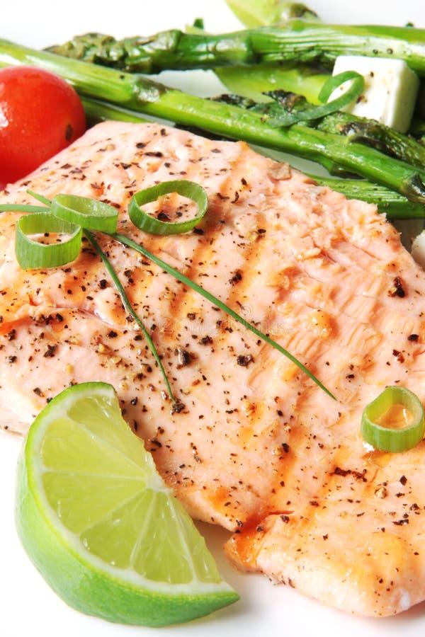 Jantar Salmon imagem de stock royalty free
