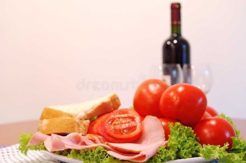 Jantar saudável foto de stock