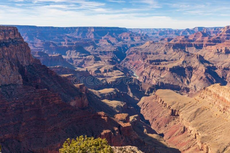 Jante scénique de sud de Grand Canyon photographie stock libre de droits