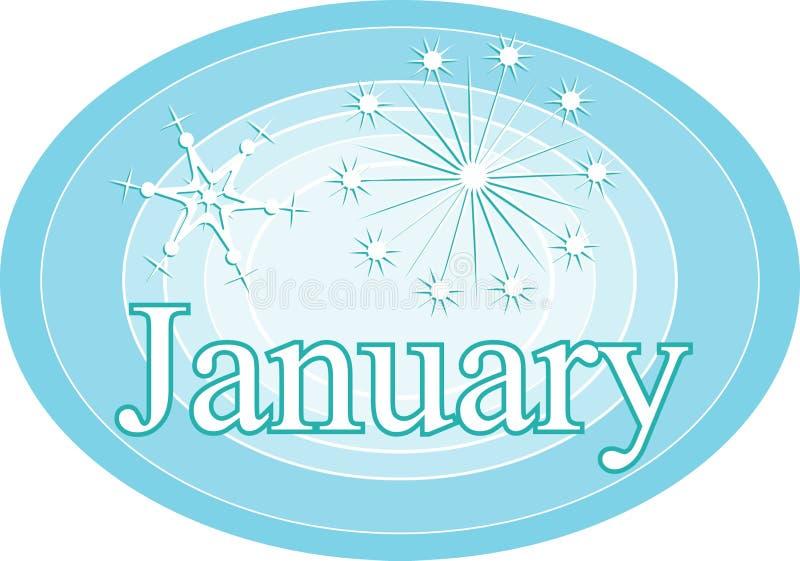 Januar lizenzfreie abbildung