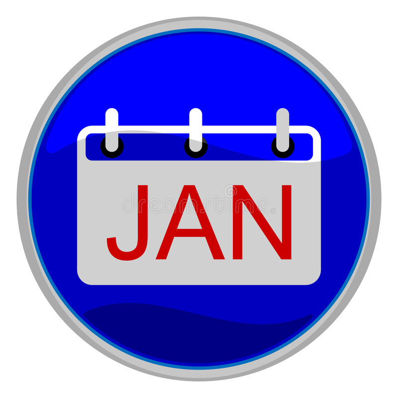 Januar vektor abbildung