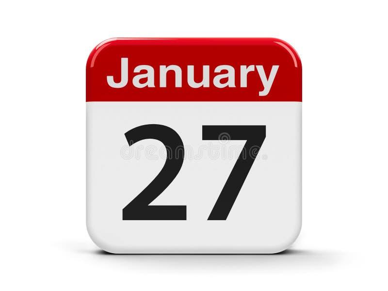 27. Januar vektor abbildung