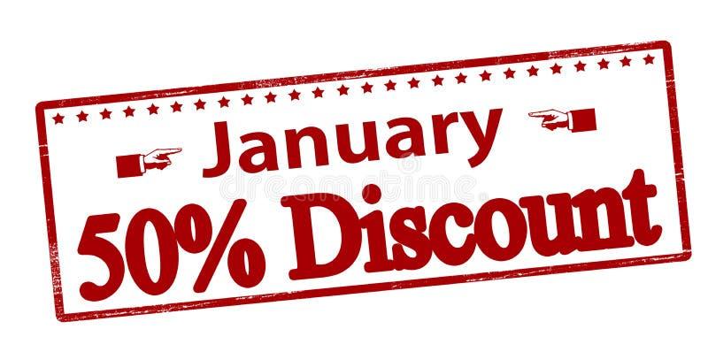 Januar fünfzig-Prozent-Rabatt stock abbildung