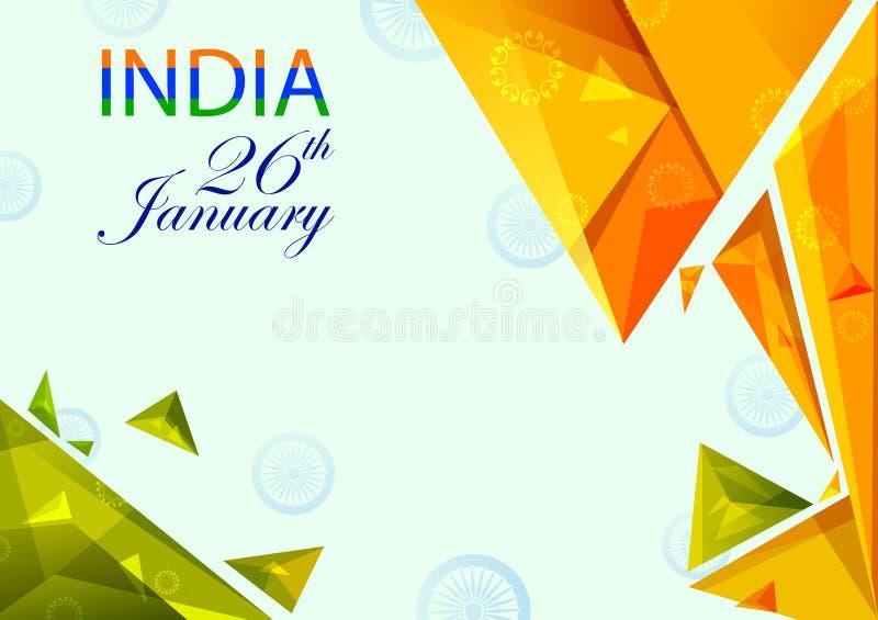 26. Januar glücklicher Tag der Republik von Indien vektor abbildung