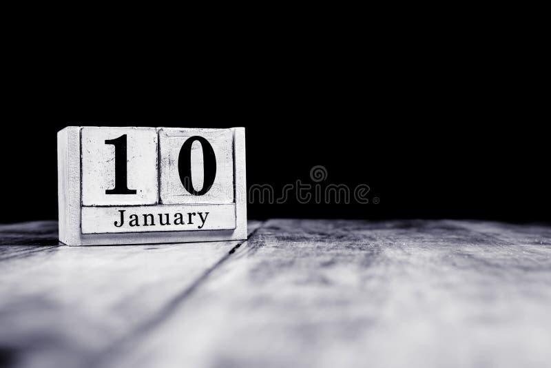 10. Januar, 10. Januar, 10. Januar, Kalendermonat - Datum oder Jahrestag oder Geburtstag lizenzfreie stockfotos