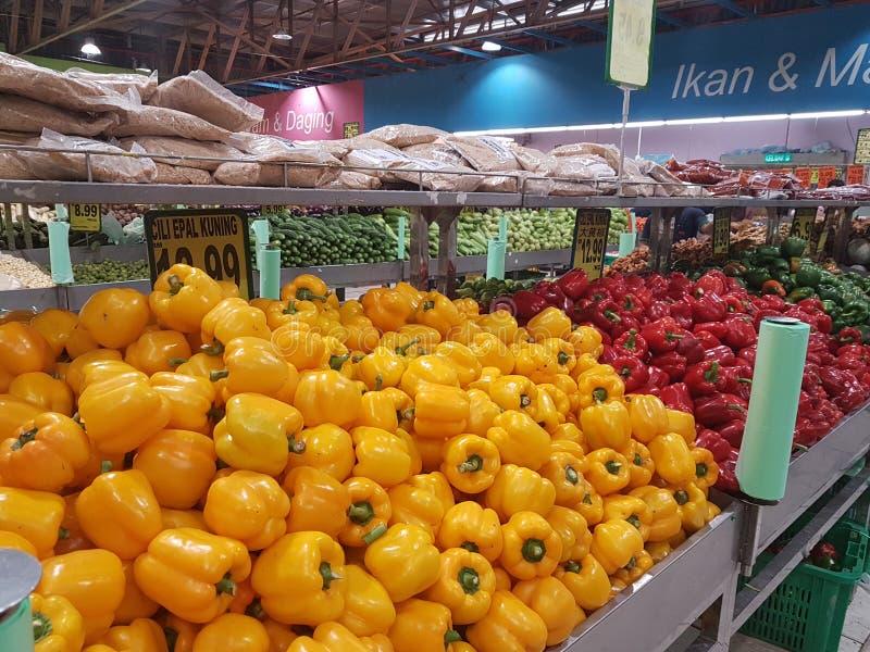 8. Januar 2019 Kuala Lumpur Der Markt wenn Pasar Besar Selayang früh morgens lizenzfreies stockbild