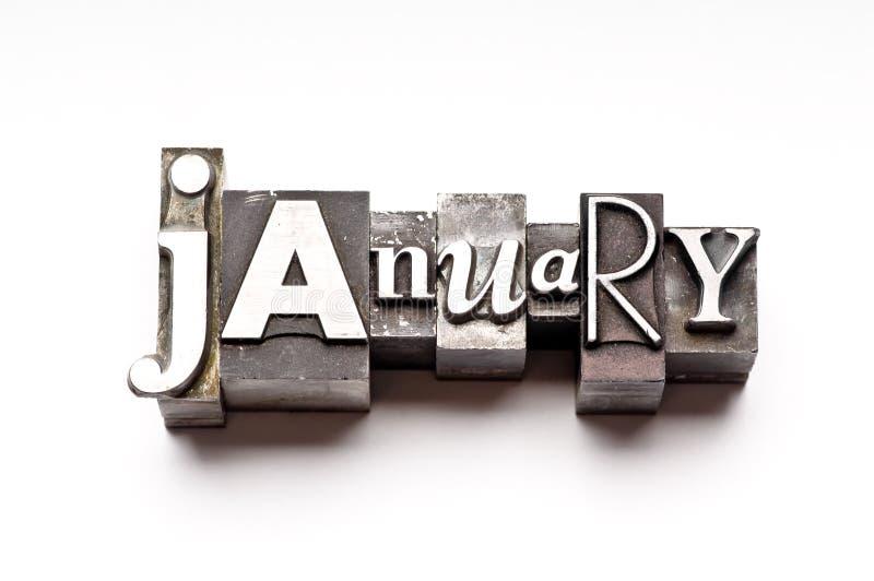 Januari stock afbeelding