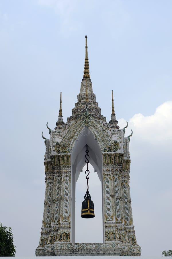 2 Januari 2019 BANGKOK THAILAND: Sluit omhoog van ingewikkelde stupa in Wat Pho-tempel, Grote pagode in Wat Phra Chettuphon Wimon royalty-vrije stock afbeeldingen
