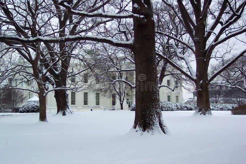 Januari bij het Witte Huis royalty-vrije stock afbeeldingen
