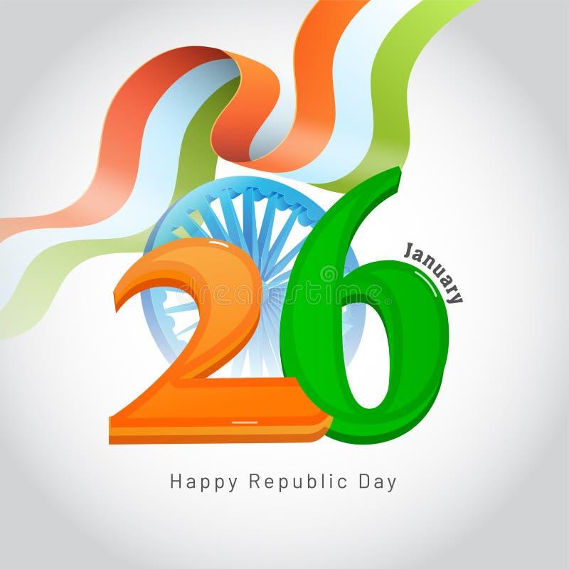 26 Januari, het Gelukkige concept van de de Dagviering van de Republiek met illustra vector illustratie