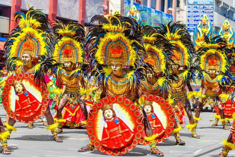 24 januari 2016 Iloilo, Filippijnen Festival Dinagyang Unid stock afbeeldingen