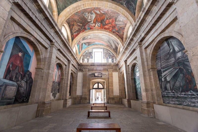 Januari 10, 2017 Instituto kulturella Cabanas, Guadalajara, Mexico royaltyfria bilder