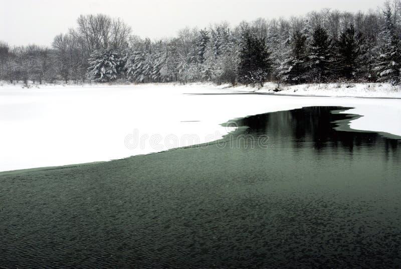 januari lake royaltyfri foto