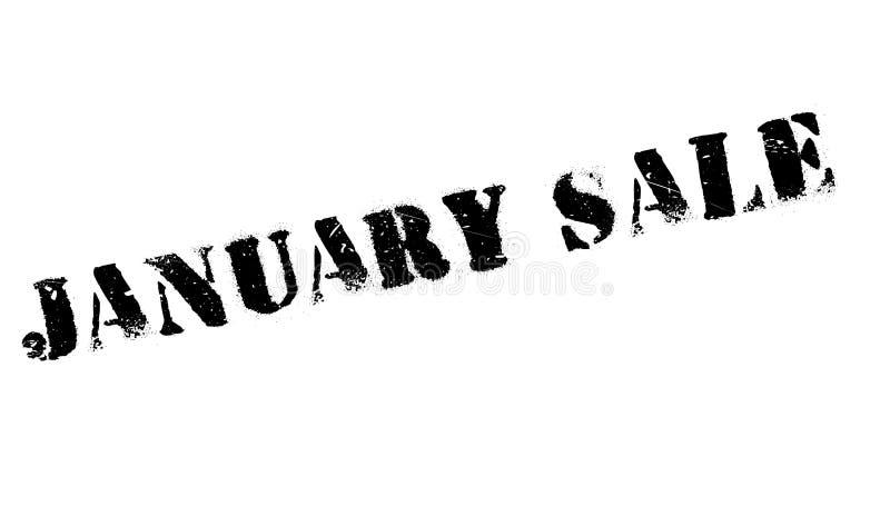 Januari Sale rubber stämpel royaltyfri illustrationer