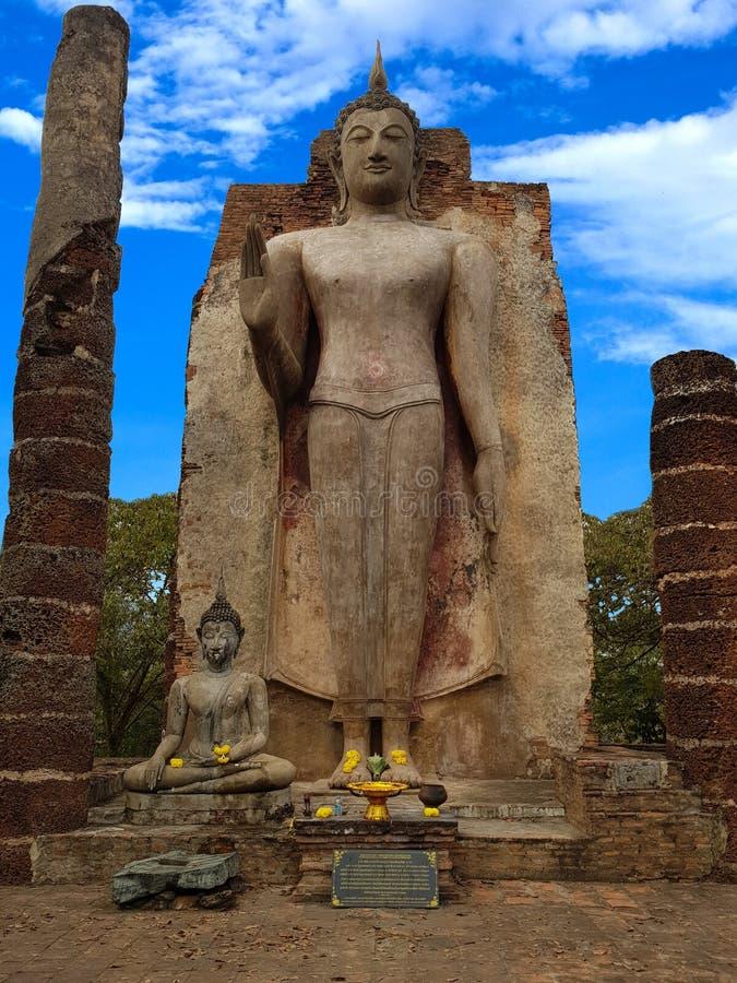 7 Januari 2019 Sukhothai Thailand: Wat Saphan Hin wordt gevestigd op een heuvel over 200 meters hoog en heeft grote bevindende Bo royalty-vrije stock afbeeldingen