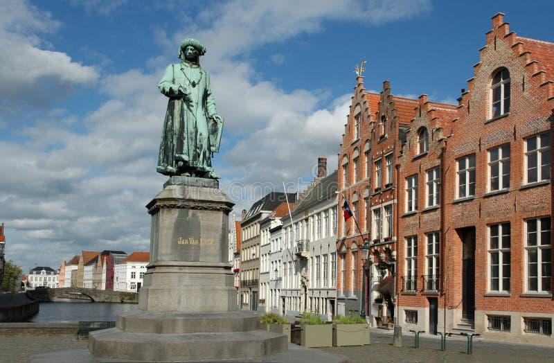 Januari Van Eyck Place royalty-vrije stock afbeelding