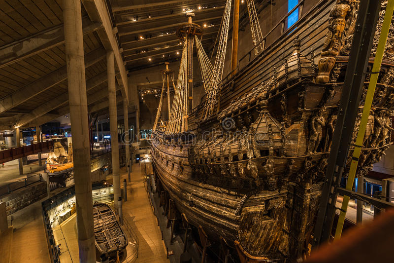 Januari 21, 2017: Vasaskeppmuseum i Stockholm, Sverige arkivbilder