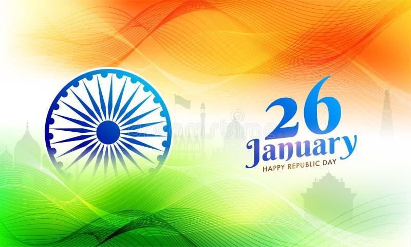 26 Januari-vieringsachtergrond met binnen illustratie van Beroemd vector illustratie
