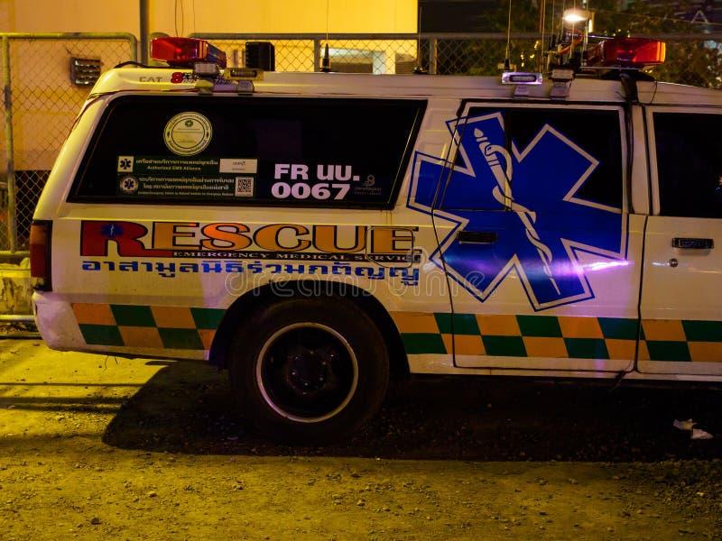 Emergency medical services ambulance, Bangkok, Thailand stock photos