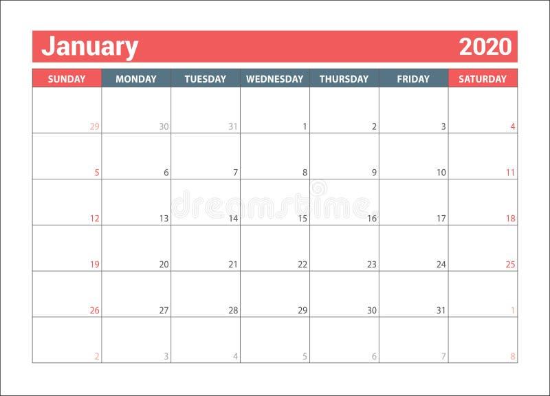 January Calendar 2021. English Calender Template. Vector ...