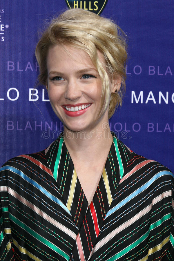 January Jones. Arriving at the Rodeo Drive Walk of Style Award In honor of Manolo Blahnik in Beverly Hills, CA on September 25, 2008 stock photos