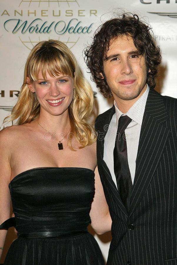 Download January Jones,Josh Groban editorial stock image. Image of josh - 26041704