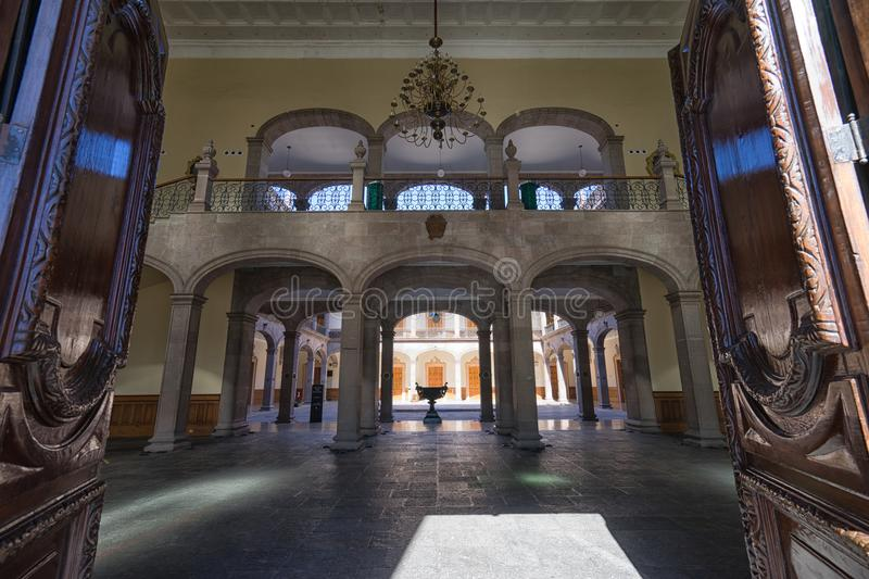 Governors palace in Monterrey Mexico royalty free stock photography