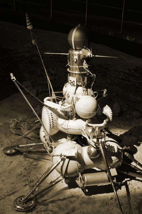 Soviet lunar station for sampling soil on the surface of the moon royalty free stock image