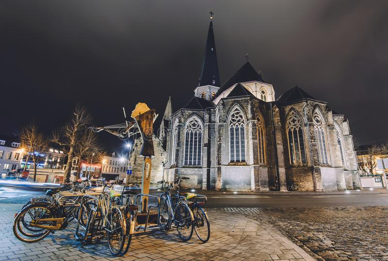 Saint James Cathedral in Ghent royalty free stock images