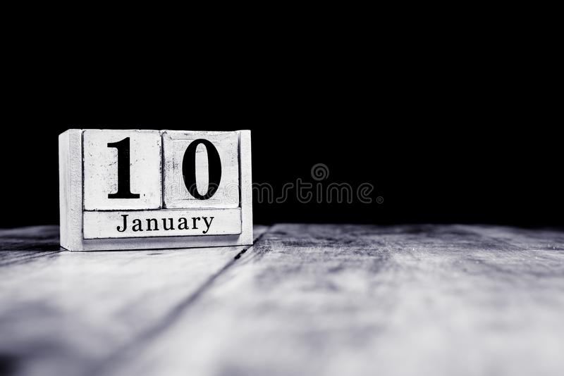January 10th, 10 January, Tenth of January, calendar month - date or anniversary or birthday royalty free stock photos