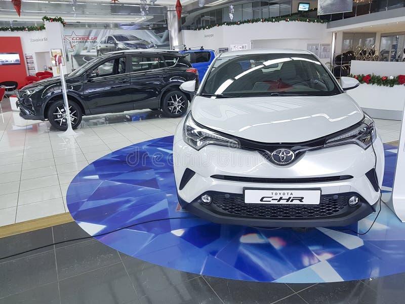 January 21, 2018 Ukraine Kiev Toyota luxury official dealership show room royalty free stock photos