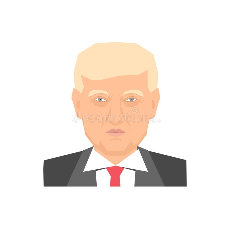 Donald trump portrait royalty free illustration