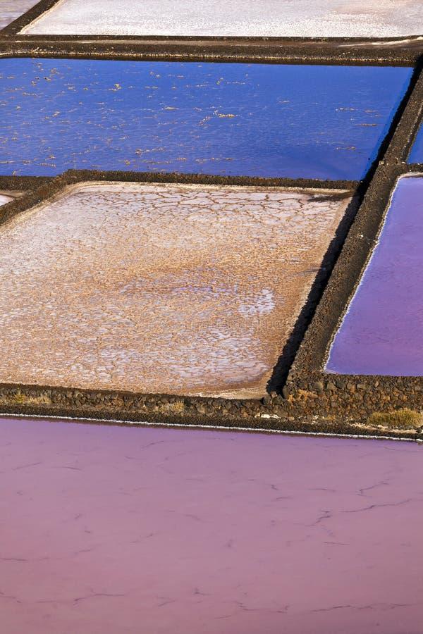 janubio Lanzarote rafinerii zasolona sól obrazy royalty free