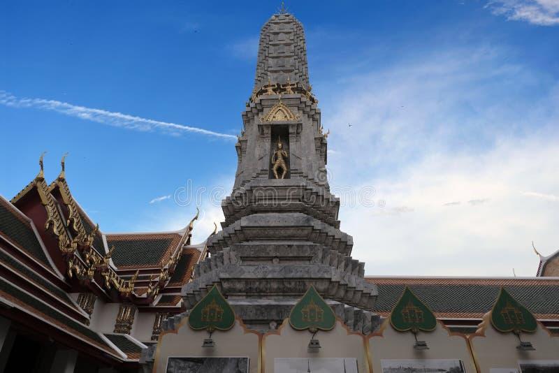 2 janvier 2019 BANGKOK THAÏLANDE : Fermez-vous du stupa complexe dans le temple de Wat Pho, grande pagoda en Wat Phra Chettuphon  photographie stock libre de droits