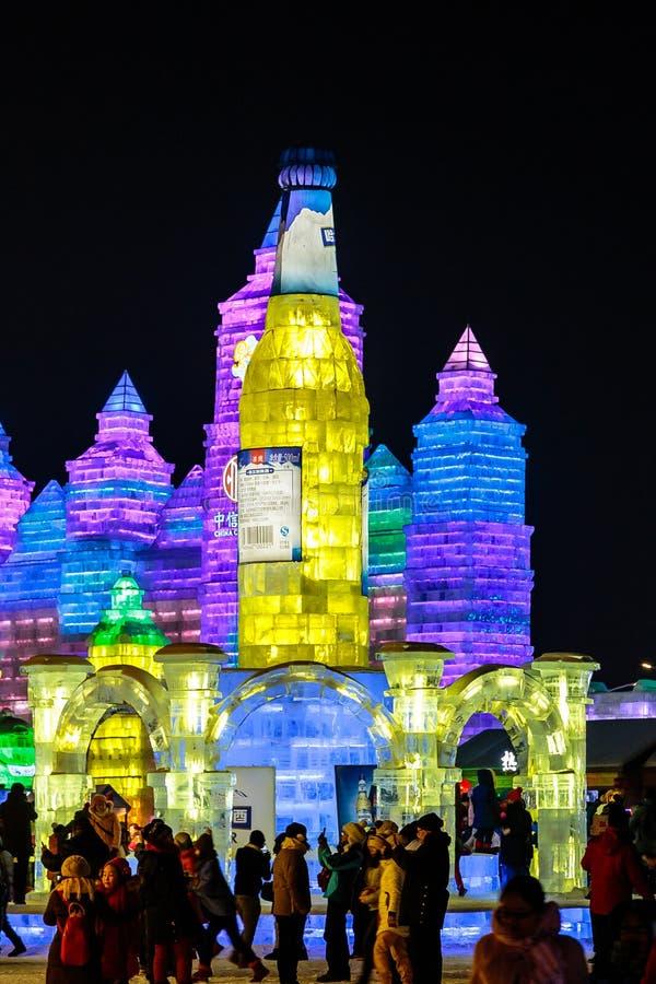Janvier 2015 - Harbin, Chine - glace internationale et festival de neige images stock