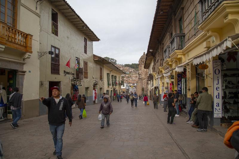 20 janvier 2019 rues de la ville de Cusco Pérou photo stock