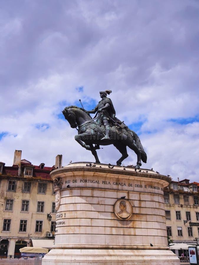 Jao我纪念碑在里斯本 免版税库存图片