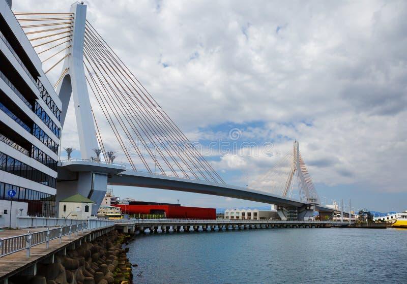 japão Aomori Ponte da baía fotos de stock royalty free