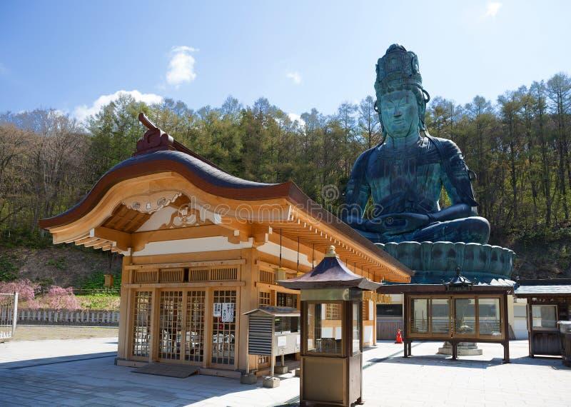 japão Buda grande da prefeitura de Aomori fotografia de stock royalty free