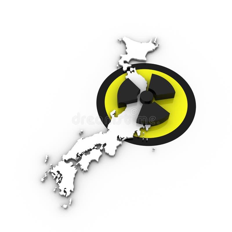Japão - disastre nuclear - branco/branco ilustração royalty free