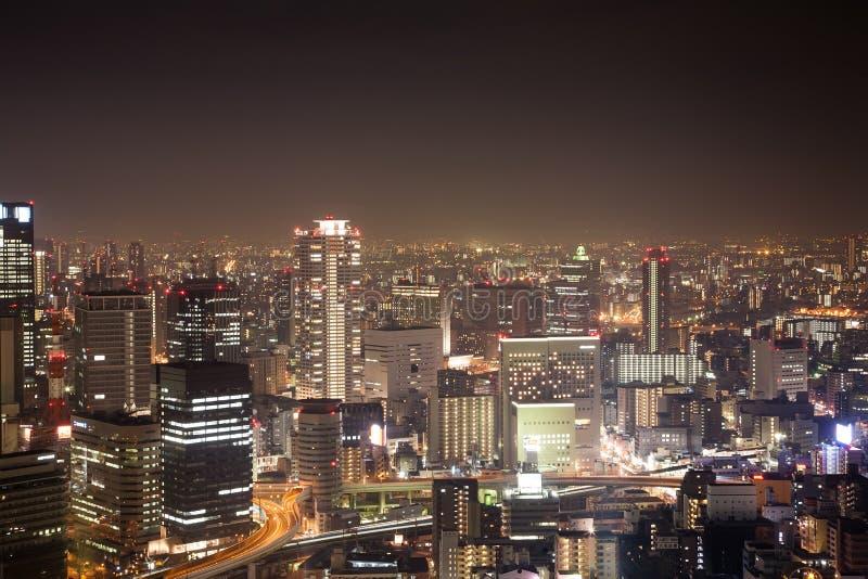 Japão Kansai Osaka City Night fotografia de stock