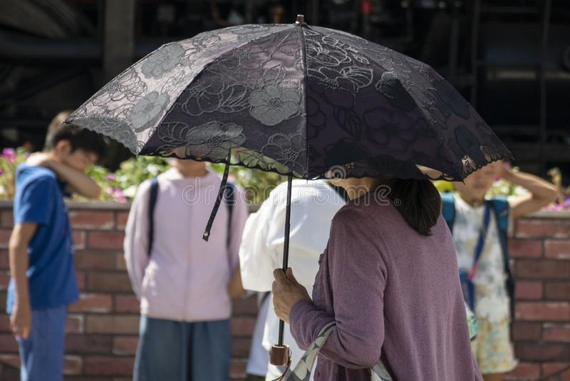 Japão sofre enquanto a vaga de calor continua imagens de stock royalty free