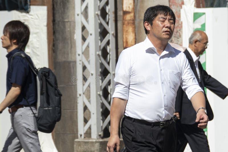 Japão sofre enquanto a vaga de calor continua imagem de stock