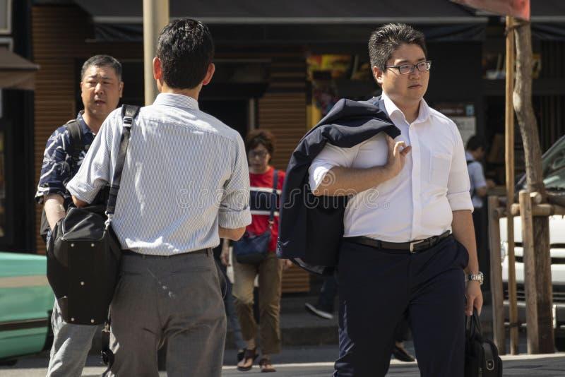 Japão sofre enquanto a vaga de calor continua imagens de stock