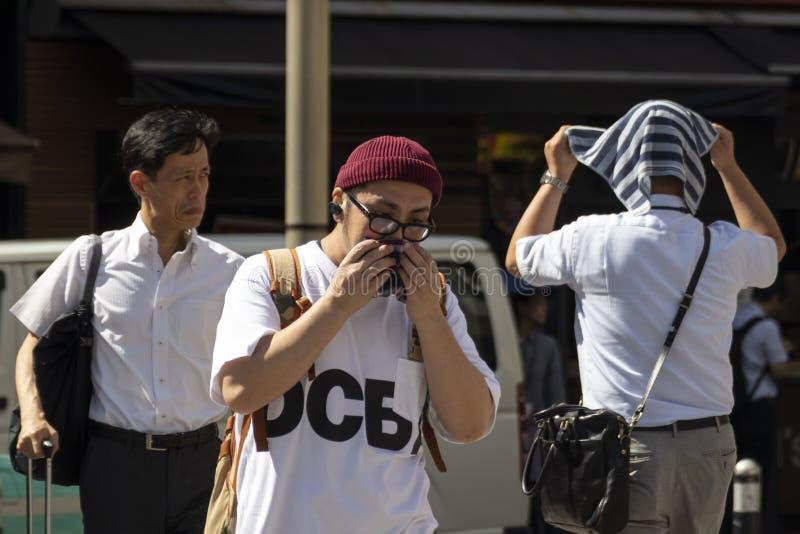 Japão sofre enquanto a vaga de calor continua fotografia de stock
