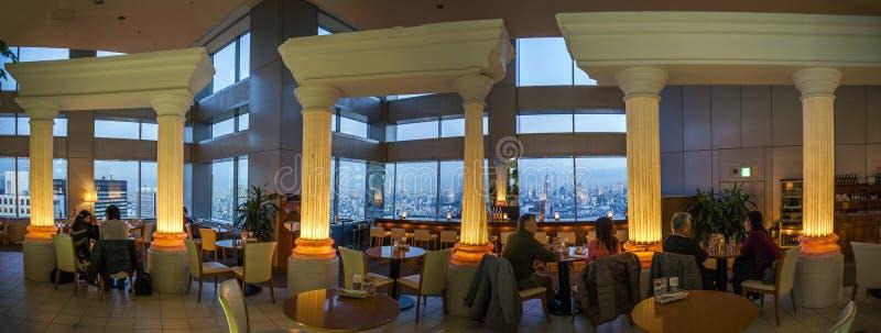 Japão - Tóquio - restaurante metropolitano do governo do Tóquio fotos de stock