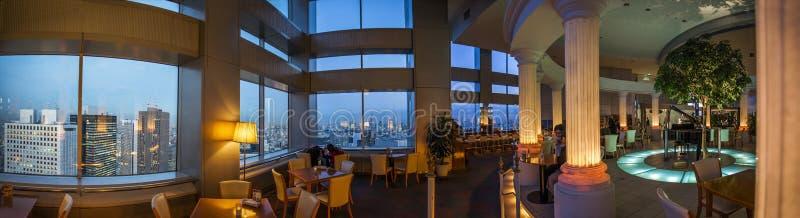Japão - Tóquio - restaurante metropolitano do governo do Tóquio imagens de stock